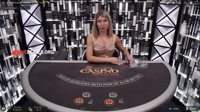 2 Hand Casino Hold'em placebets