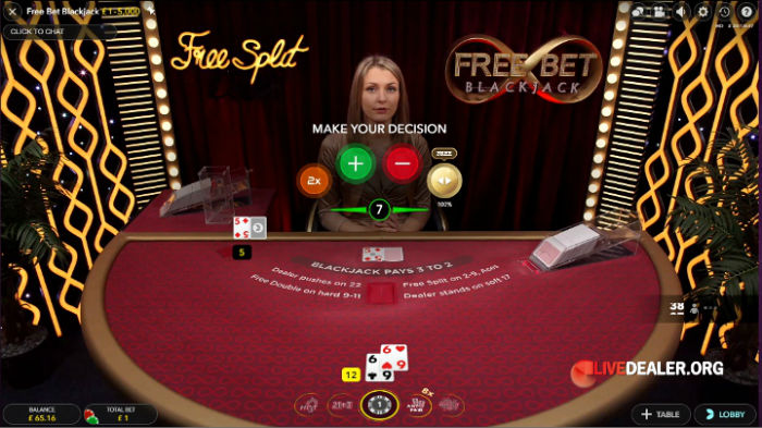 Free Bet Blackjack- free split