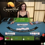 Playtech Casino Stud Poker player win