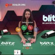 blitz blackjack hit stand
