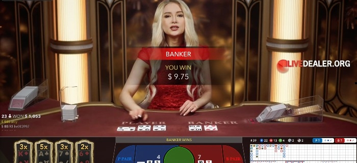 lightning baccarat win