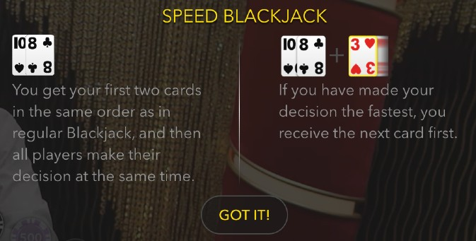 speed blackjack info