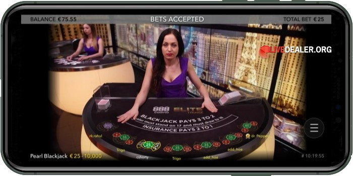 iphone live blackjack bets accepted