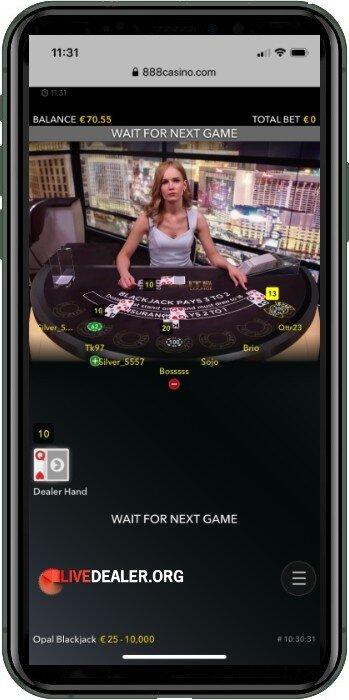 iphone live blackjack portrait