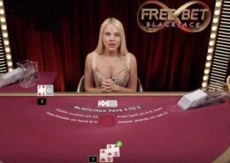 evolution free bet blackjack video