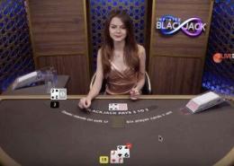 evolution infinite blackjack video