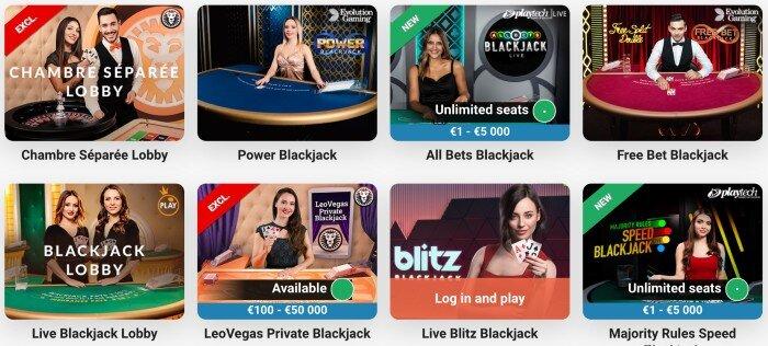 playtech blackjack @leovegas