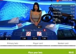 Bet on Baccarat banker card