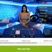 Bet on Baccarat player card