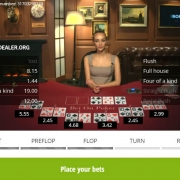 Bet on Poker flop