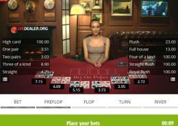 Bet on Poker preflop