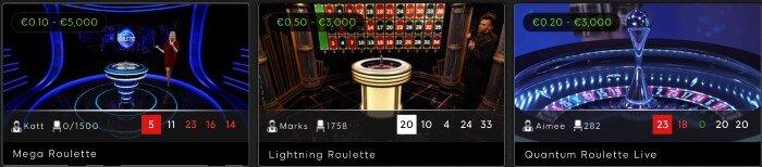 Mega Roulette at 888