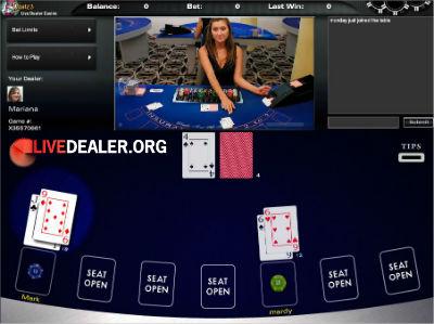 5Dimes classic live blackjack