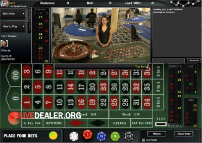 Roulette live video casino jeux la londe les maures