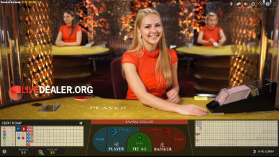 Party Casino live baccarat