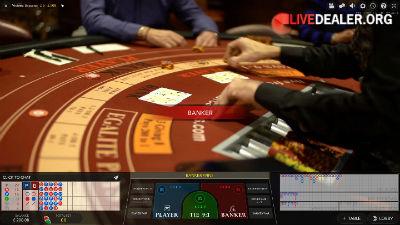 Grosvenor live baccarat from the Victoria Casino