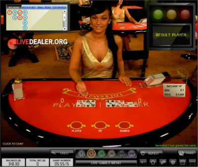 BetVictor live baccarat
