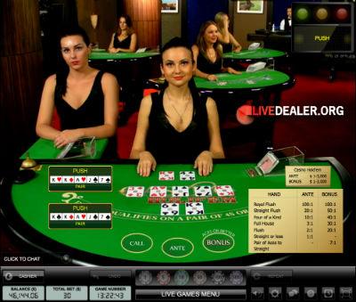 casino live poker
