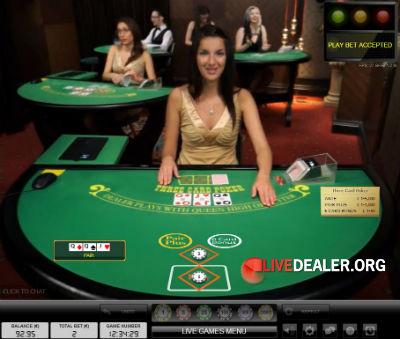 Royal Panda live 3 Card Poker