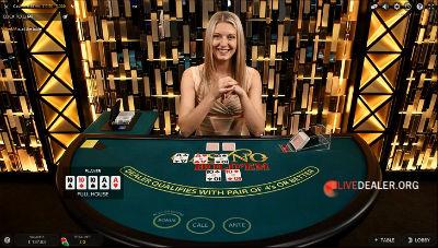 Evolution Gaming live casino hold'em poker