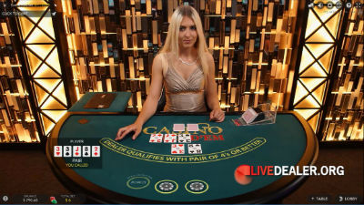 Royal Panda live Casino Hold'em Poker