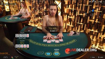 Jackpot City live caribbbean stud poker