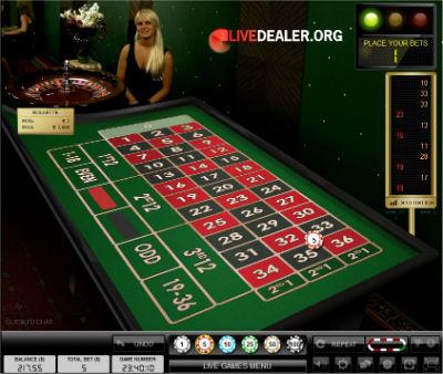 Party Casino live roulette