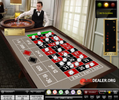 Crockfords live roulette