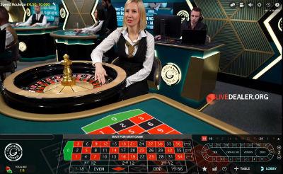 grosvenor live speed roulette
