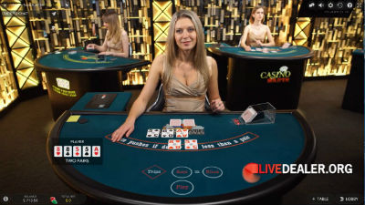 Evolution Gaming live dealer Texas Hold'em Poker