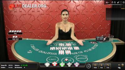 5 Dimes Live Casino Holdem Poker