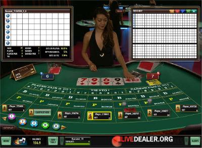 Royal Vegas live baccarat