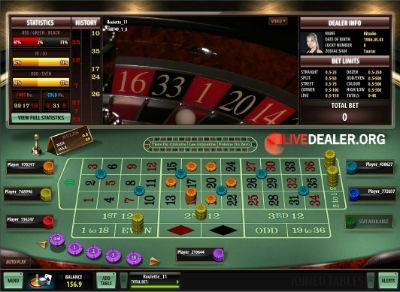 Roxy Palace live roulette