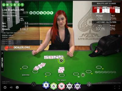 Unibet live 7 seat blackjack