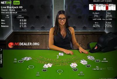 888 (NetEnt) live blackjack