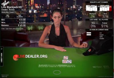 Mr Green / Netent  live blackjack