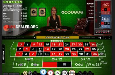 Unibet (NetEntertainment) live roulette