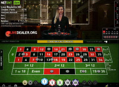 888 (NetEntertainment) live roulette