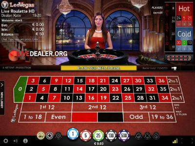 Leo Vegas / Netent live roulette