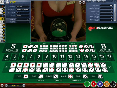 Opus Gaming live dealer sicbo