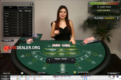 Live baccarat at Europa Casino