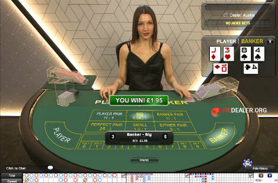 William Hill live baccarat