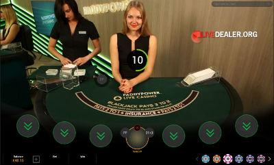 paddypower live blackjack