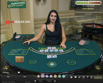 Live casino bonus paddy power