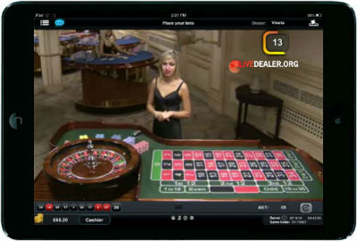 Paddy Power iPad live games