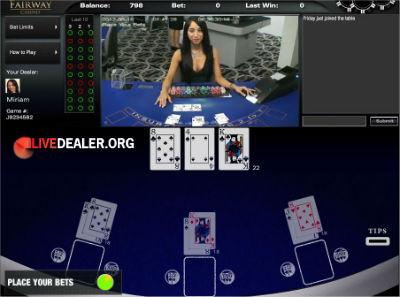 BetOnline live dealer blackjack