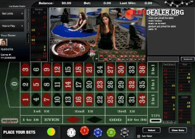 BetOnline live roulette (ViG)