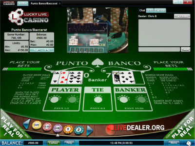 Lucky Live baccarat