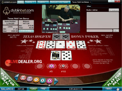 Vuetec live dealer Txas Hold'em Poker