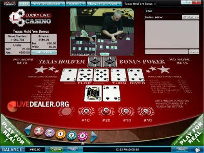 Lucky Live Texas Hold'em
